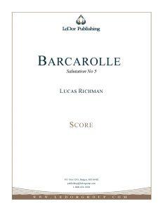 barcarolle salutation no 5 score cover