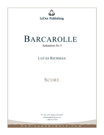 barcarolle salutation no 5 score cover