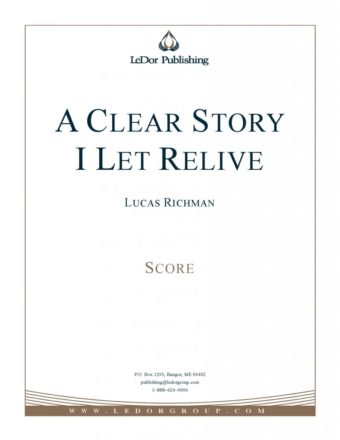 a clear story I let relive score cover