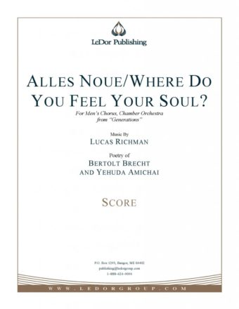 alles noue/where do you feel your soul? score cover