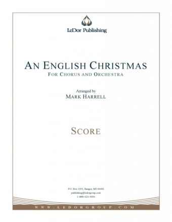 an english christmas for chorus and orchestra score cover