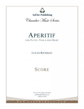 aperitif for flute, viola and harp score cover