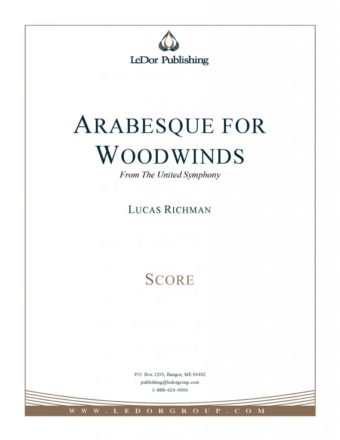arabesque for woodwinds from the united symphony score cover