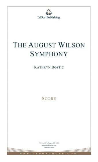 the august wilson symphony score cover