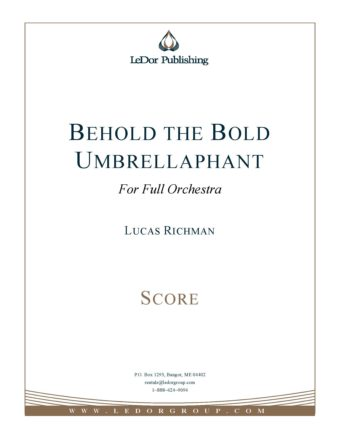 behold the bold umbrellaphant for full orchestra score cover