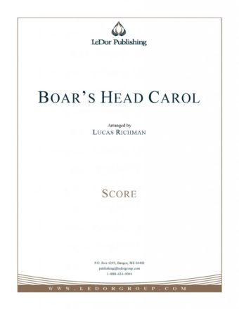 boar's head carol score cover