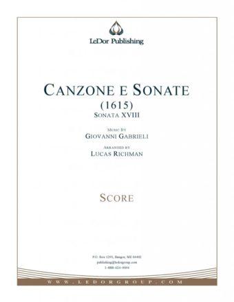 canzone e sonate (1615) score cover