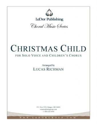 christmas child for solo voice and children's chorus cover