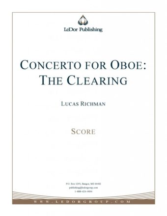 concerto for oboe: the clearing score cover