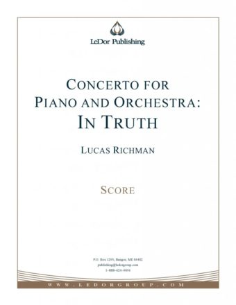 concerto for piano and orchestra: in truth score cover