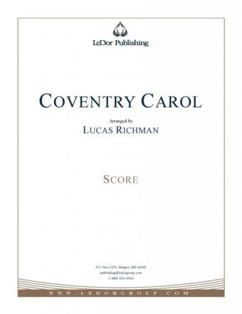 coventry carol score cover