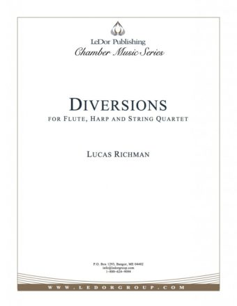 diversions for flute, harp and string quartet cover