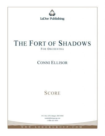 the fort of shadows for orchestra score cover