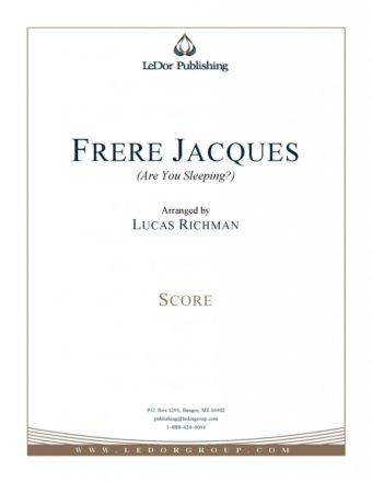 frere jacques (are you sleeping?) score cover