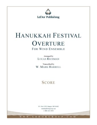 hanukkah festival overture for wind ensemble score cover