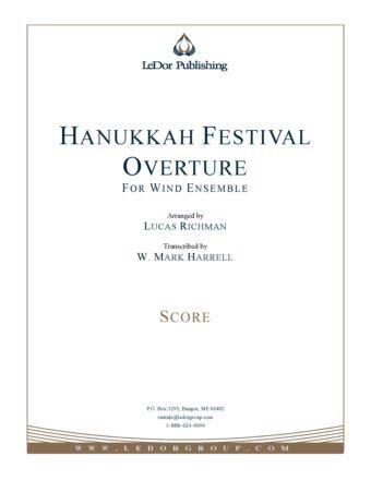 hanukkah festival overture for wind ensemble score cover