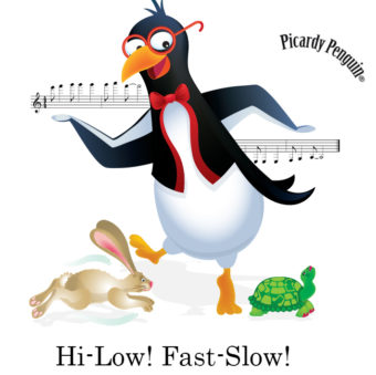 picardy penguin hi-low fast-slow graphic