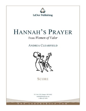 Hannah's Prayer from women of valor score cover