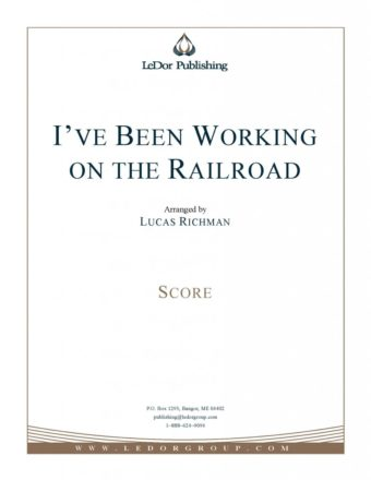 I've been working on the railroad score cover