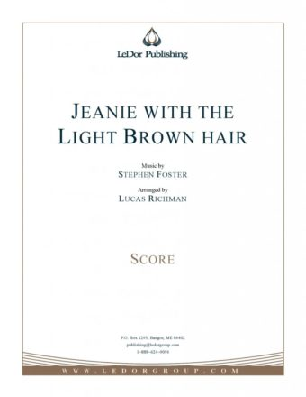 jeanie with the light brown hair score cover