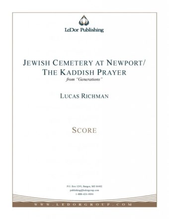 jewish cemetery at newport / the kaddish prayer score cover