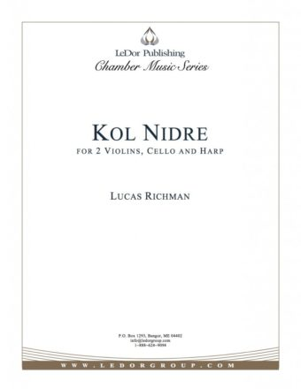 kol nidre for 2 violins, cello and harp cover