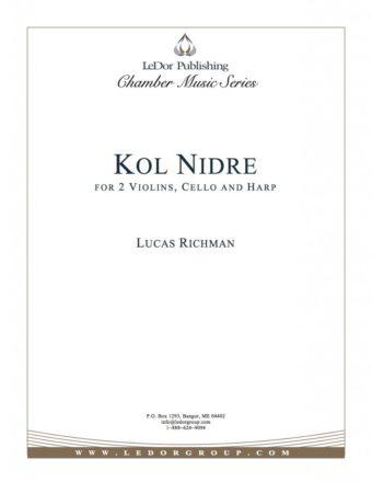 kol nidre for 2 violins, cello and harp cover