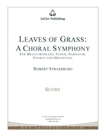 leaves of grass: a choral symphony score cover