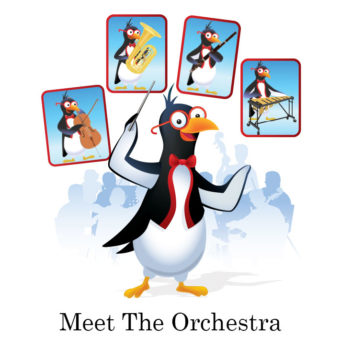 picardy penguin meet the orchestra graphic