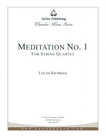 meditation no. 1 for string quartet cover