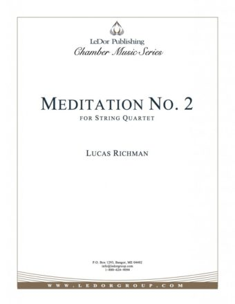 meditation no. 2 for string quartet cover