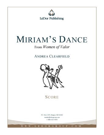 miriam's dance from women of valor score cover