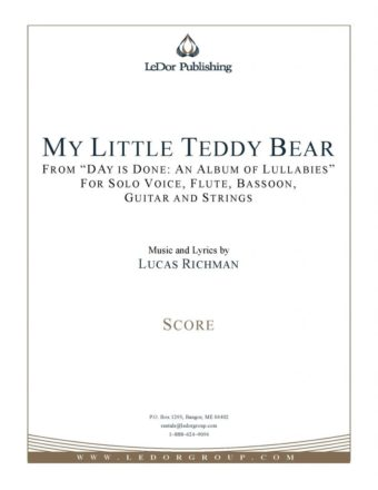 my little teddy bear score cover