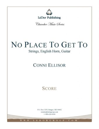 no place to get to strings, english horn, guitar score cover