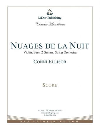 nuages de la nuit violin, bass, 2 guitars, string orchestra score cover