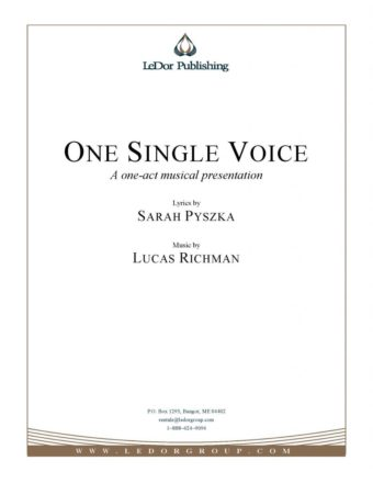 one single voice one-act musical presentation cover