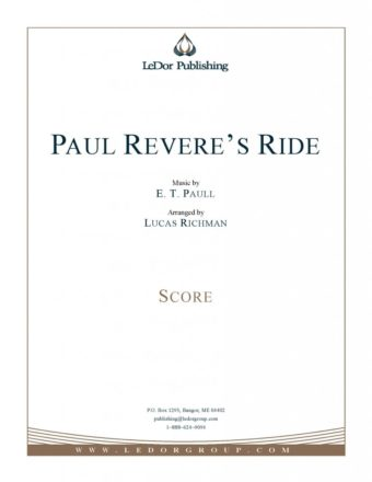 Paul revere's ride score cover