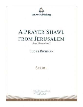 "a prayer shawl from jerusalem from ""generations"" score cover"