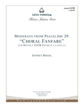 "Psalm 29 ""choral fanfare"" Score Cover"