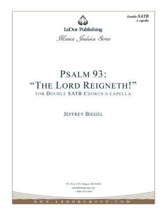 "Psalm 93 ""The Lord Reigneth!"" Score Cover"