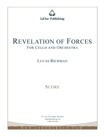 revelation of forces for cello and orchestra score cover
