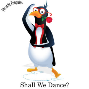 picardy penguin shall we dance graphic