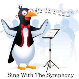 picardy penguin sing with the symphony graphic