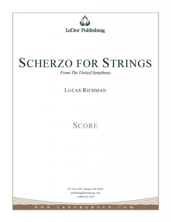 scherzo for strings from the united symphony score cover
