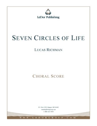 seven circles of life choral score cover