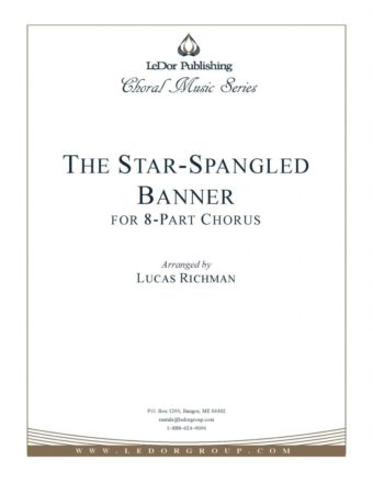 the star-spangled banner for 8-part chorus cover