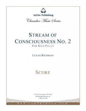 stream of consciousness no 2 for solo cello score cover