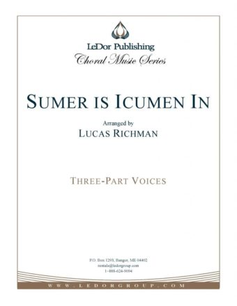 sumer is icumen in three-part voices