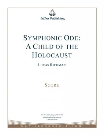 symphonic ode: a child of the holocaust score cover