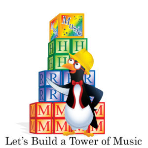 picardy penguin let's build a tower of music graphic